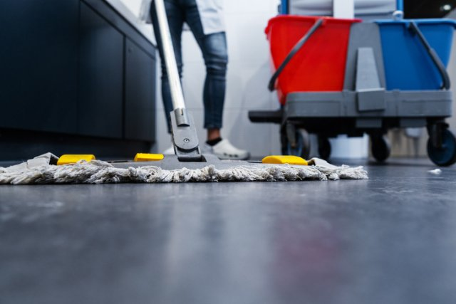 Restaurant Cleaning Services - mopping floor